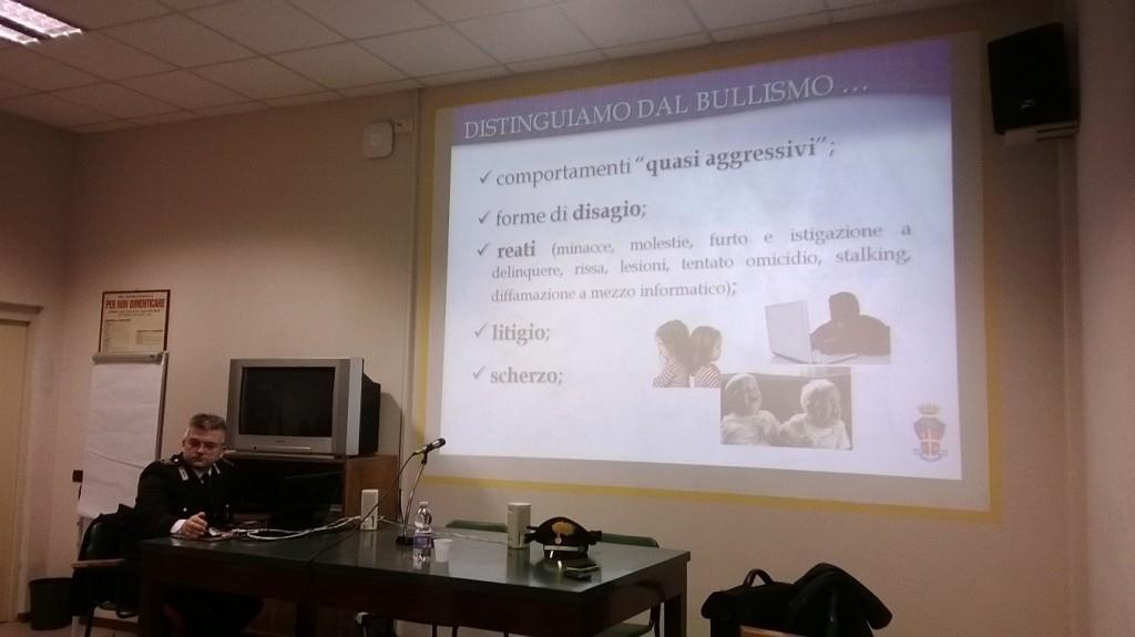 Lezione sulla legalità all'IIS Faravelli